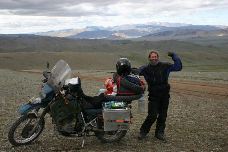 Day 59 I've just ridden my bike to Mongolia and I'm scared and exhilarated, nervous and victorious, I'm unaware and aware of it.