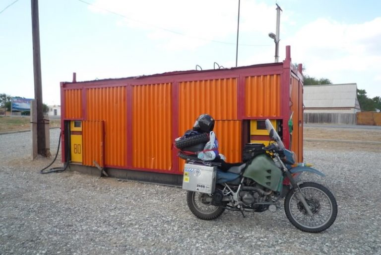 Day 28 I point at my tank, I need petrol he points at a container, 'no mate I don't want to ship it home' but sure enough inside the 20 foot container is a petrol pump.