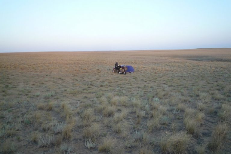 Day 33 As I pass the endless steppe of parched grassland and infinite horizons, I think I shall cammmmmmmmmmmmp here.